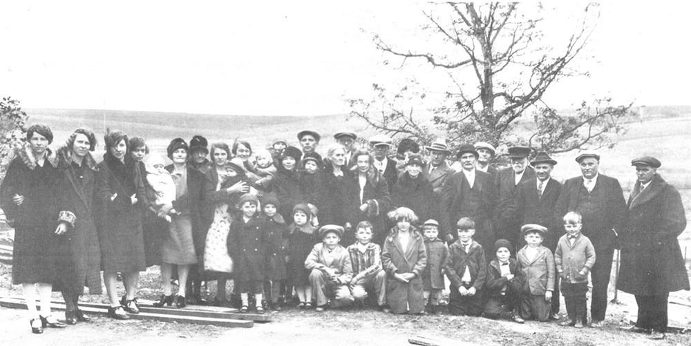 William and Catherine Doerr 50th Wedding Anniversary Taken at farm of John Moellers November 13, 1927