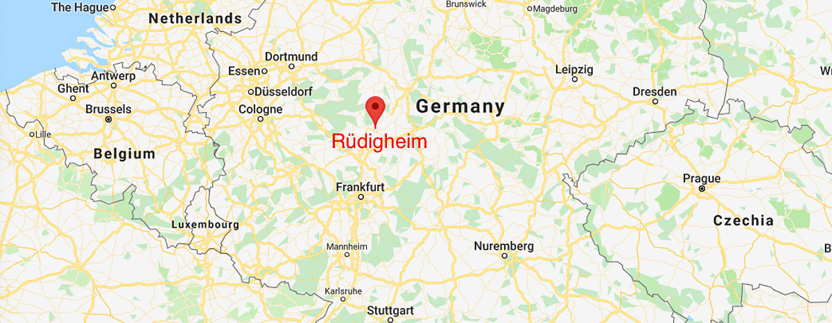 Location of Rlüdigheim, Germany