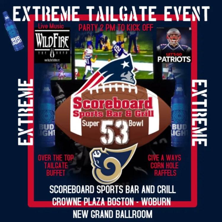 Feb 3 | Scoreboard Sports Bar & Grill Super Bowl Tailgate ...