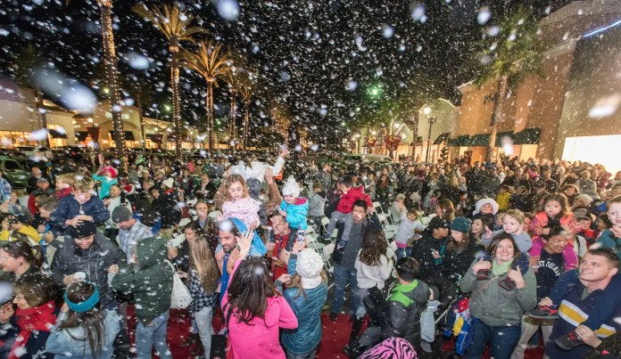 Image result for tree lighting and santa's arrival carlsbad
