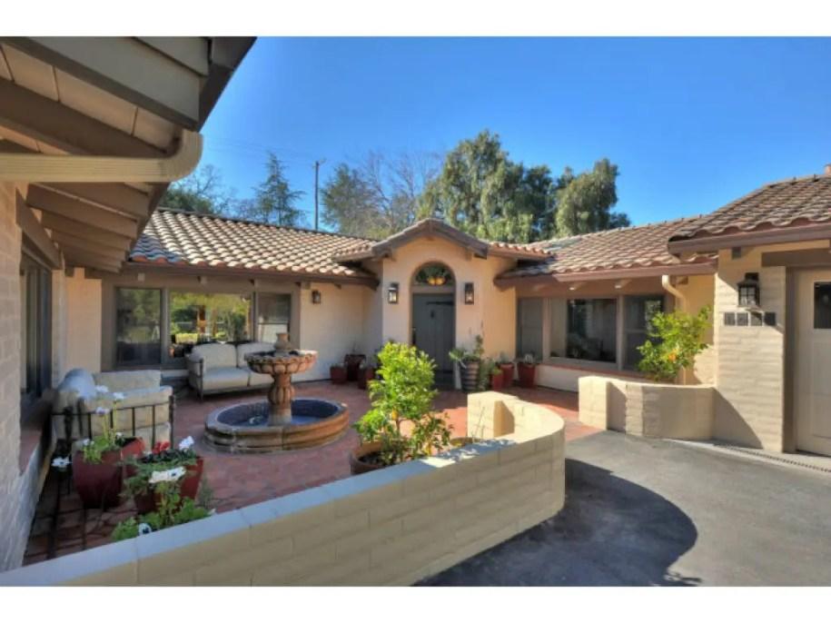 Hacienda-style Adobe with Courtyard: $2.79 Million | Palo ...