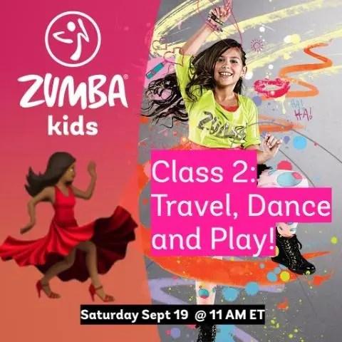 Online Kids Zumba - Travel, Dance, and Play  - Class 2!