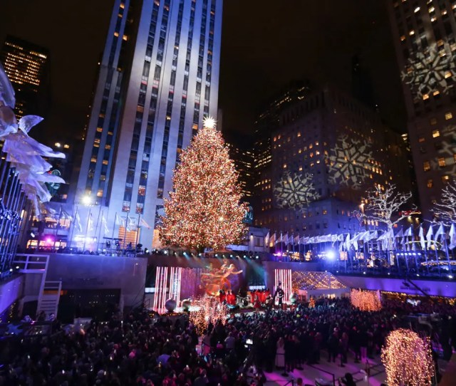 People Attend The Th Annual Rockefeller Center Christmas Tree Lighting Ceremony In New York City Photo By Brent N Clarke Invision Ap