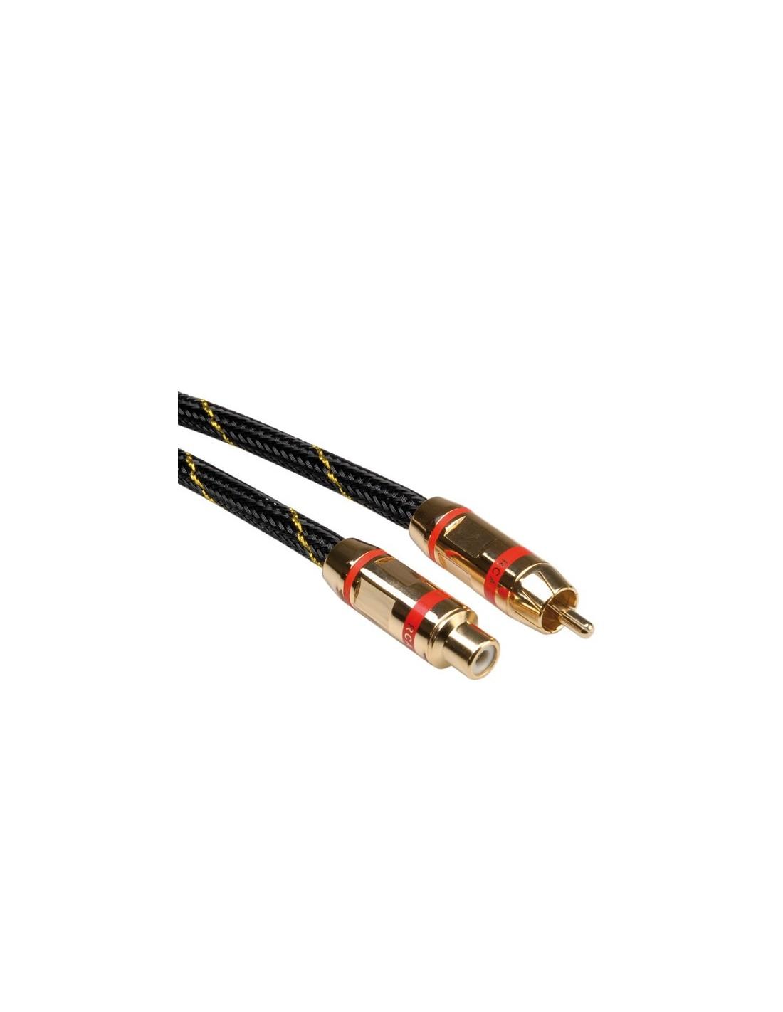 Roline Kabel Cinch Gold Rca M F 5m Czerwony