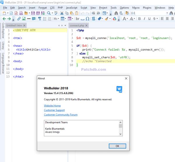 Blumentals WeBuilder 16.1.0.227 Crack + Licence Key 2020