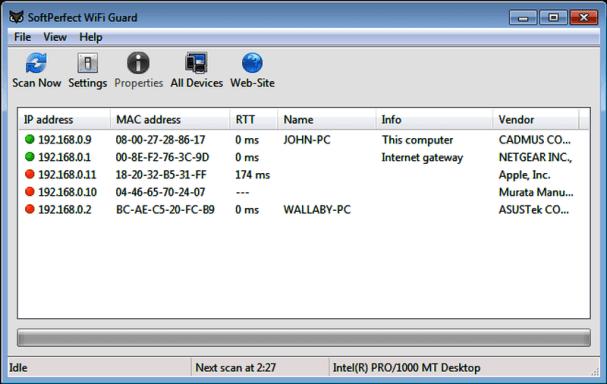 SoftPerfect WiFi Guard Crack k