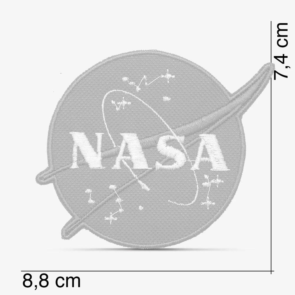 Patch Bordado Logo Nasa com termocolante 8,8x7,4cm da PATCH GANG