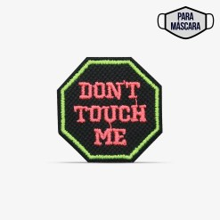 """Patch Bordado pequeno """"Don't touch me"""", """"não me toque"""" com termocolante 3,5x3,5cm da PATCH GANG"""