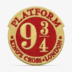 patch bordado adesivo termocolante customização harry potter plataforma 9 3/4