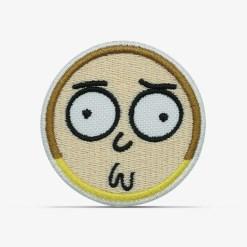 patch bordado adesivo termocolante customização morty constrangido