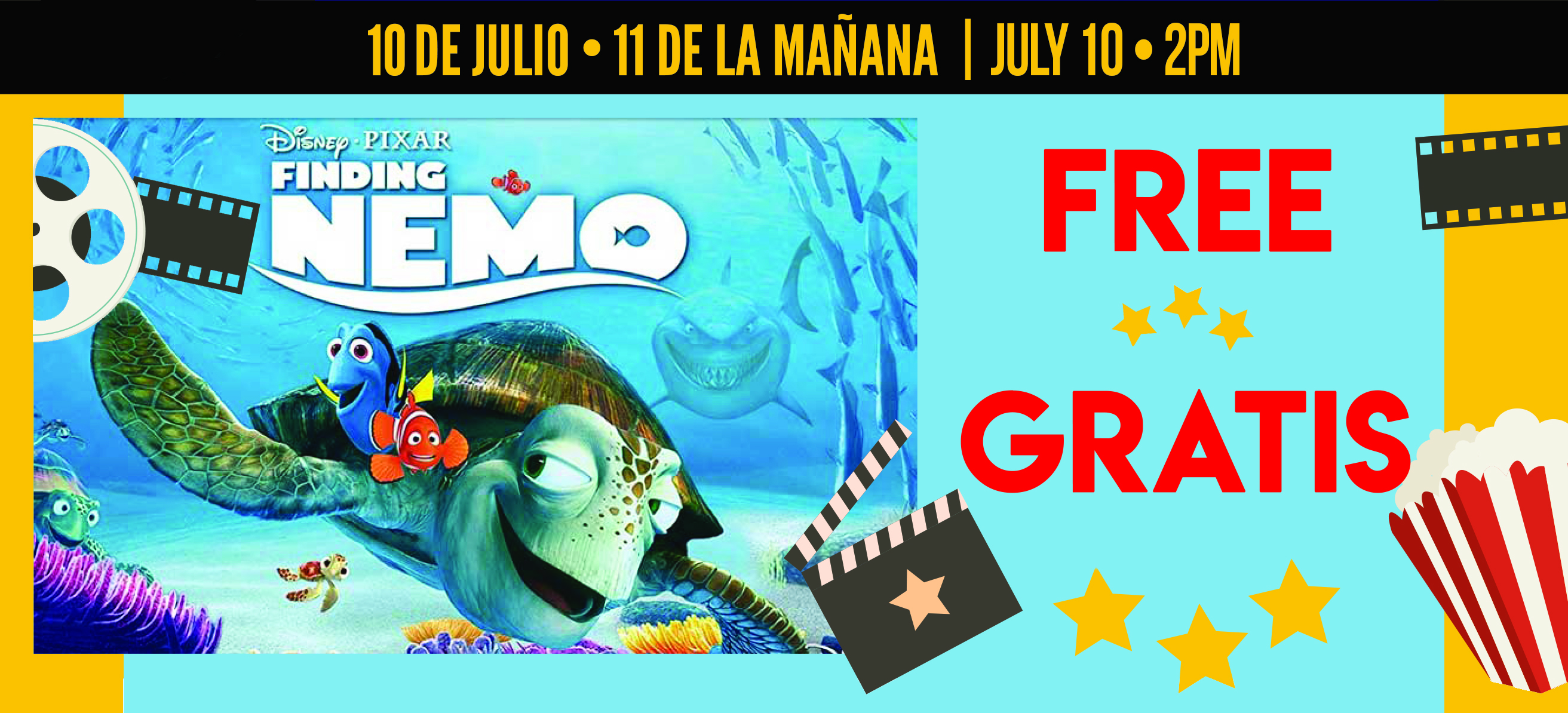 Free Film Amp Party Finding Nemo In English Amp Spanish