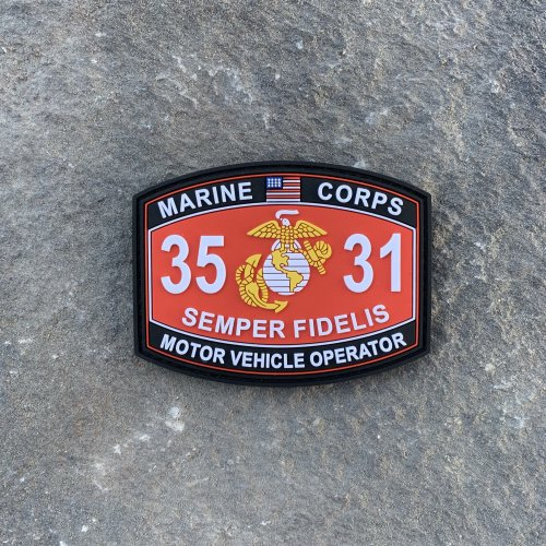 3531 Motor Vehicle Operator PVC MOS Patch