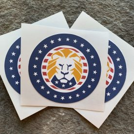 NEW!  Trump Lion Logo Sticker