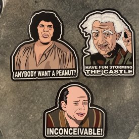 Princess Bride 3 Pack Vinyl Decals