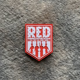 Remember Everyone Deployed PVC Patch Red/White Shield