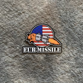 Fur Missile Version 2 Vinyl Decal