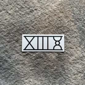 13 Hours Roman Numerals Vinyl Decal