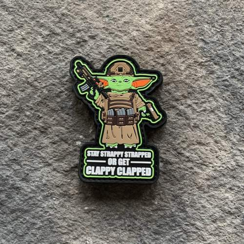 Stay Strappy Baby Yoda PVC Patch
