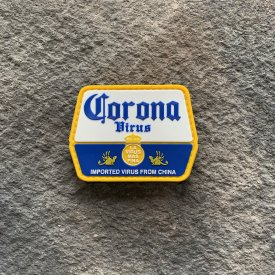 Corona Virus-  Imported from China PVC Patch Collab