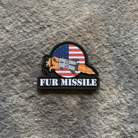 Fur Missile Flag 2 PVC Patches