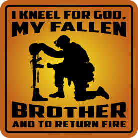 I kneel for God Vinyl Decals