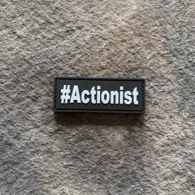 #Actionist Glow in the Dark PVC Patch