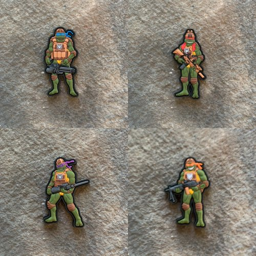 Tactical Ninja Turtles Full Set-  PVC Patches
