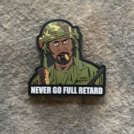 Tropic Thunder:  Never Go Full Retard PVC Patch