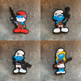 2A Smurf 4 Pack PVC Patches