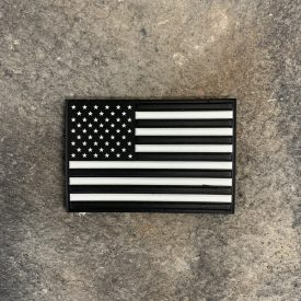US Flag Black and White PVC Patch