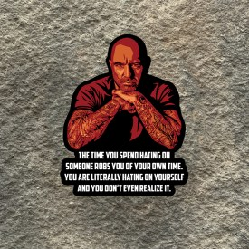 Joe Rogan:  The time you spend hating on others quote Vinyl Decals