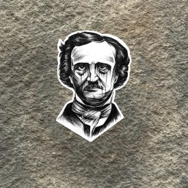 Medema Series:  Edgar Allan Poe Pen Art Vinyl Decal