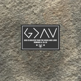 God is Greater Vinyl Decal