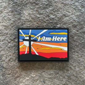 I am Here Cross PVC Morale Patch