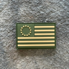 Ryan Weaver Collection:   OD Betsy Ross Flag PVC Morale Patch