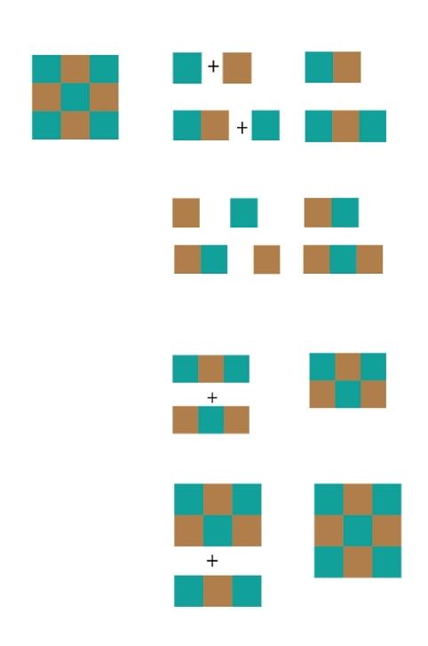 infographie coudre un nine patch