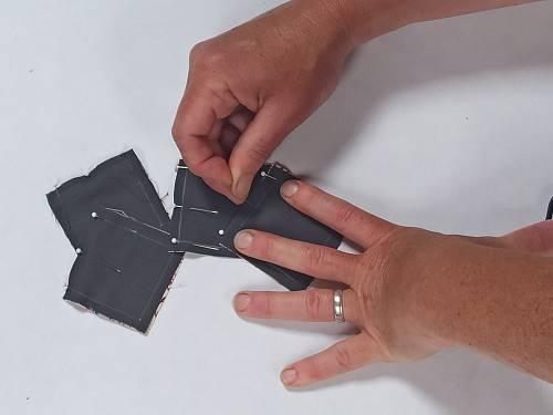 épingler pièces bloc patchwork