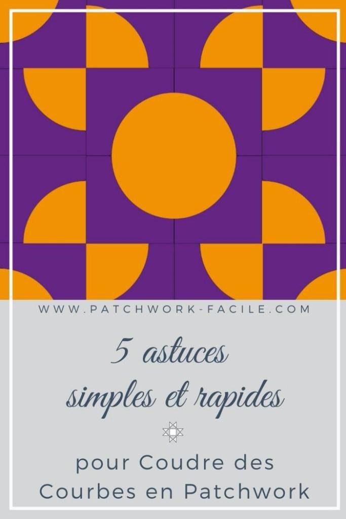 coudre des courbes à la main en patchwork