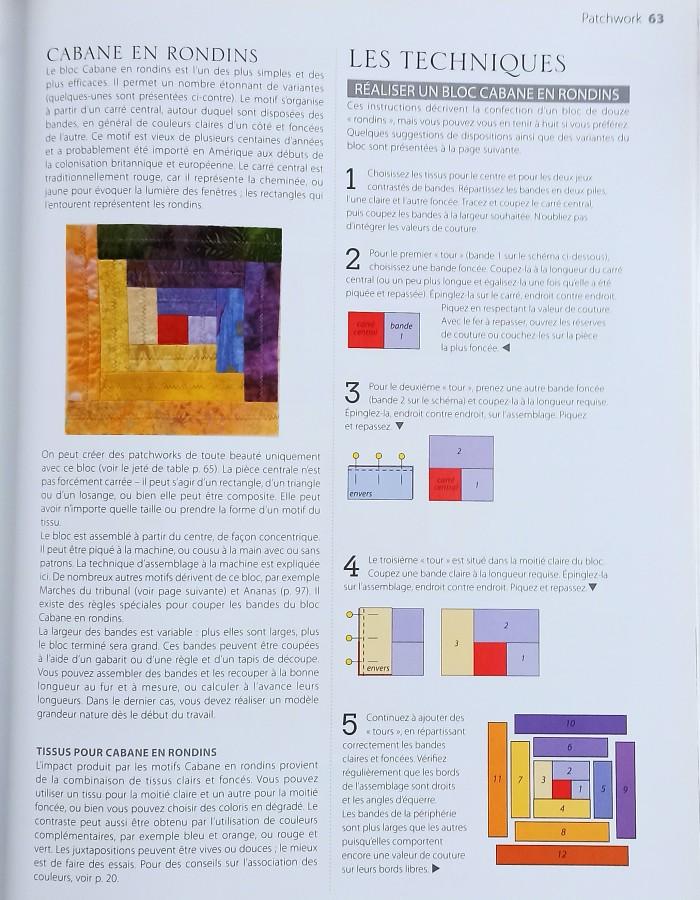 Shémas clairs livre patchwork débutante