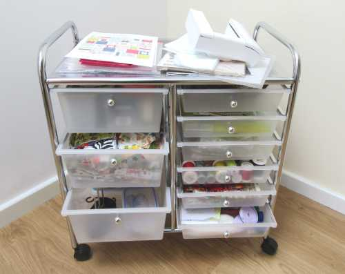 Storage trolley filled by Allison Reid