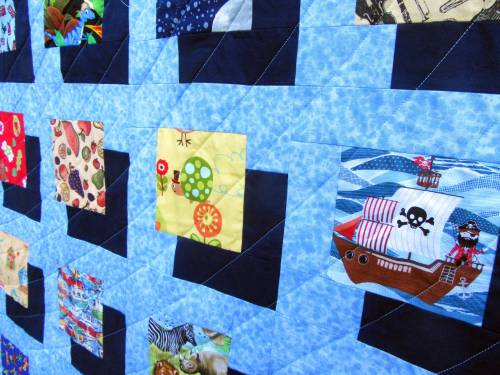 I-Spy Shadow Quilt (quilting detail) by Allison Reid