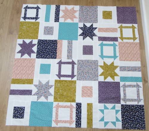 Dashing Stars completed quilt top by Allison Reid