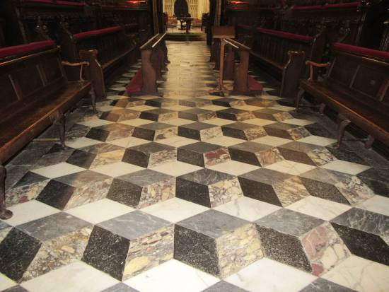 Beverley Minster floor tiles (2) by Allison Reid