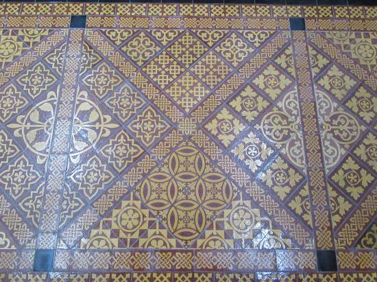 Beverley St Mary's floor tiles by Allison Reid
