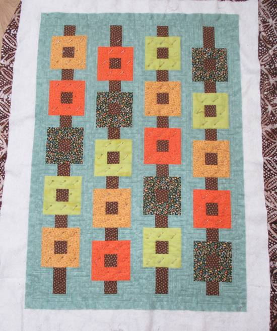 Autumn wallhanging quilting (2) by Allison Reid