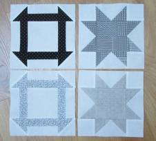 Dashing Stars 4 Churn Dash and Sawtooth Star blocks by Allison Reid