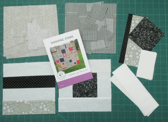 Dashing Stars B and W fabrics by Allison Reid