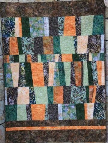 Quilt de patchwork de batiks