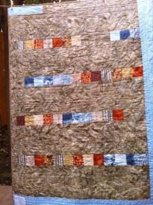 Trasera de quilt de batik