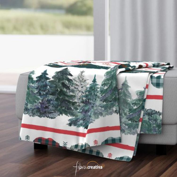 manta de forro polar regalo de navidad cálida y rápida de coser